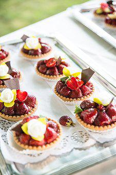 Dessert, Dessert Table, Strawberries, Treats, Tarts