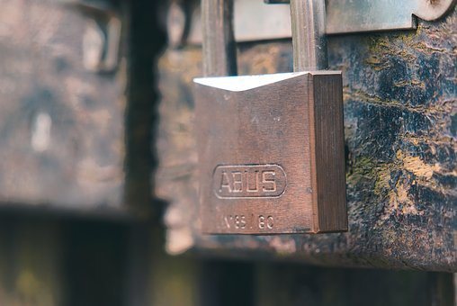 Castle, Padlock, Bolt, Closed, To, Iron, Metal, Door