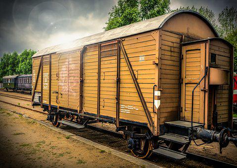 Dare, Wagon, Wood, Metal, Transport, Rust, Rail Traffic