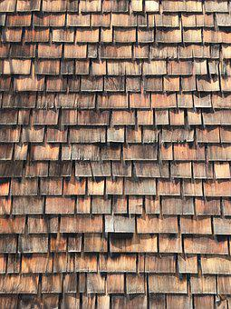 Wood Shingles, Wood, Roof, Architecture, Building
