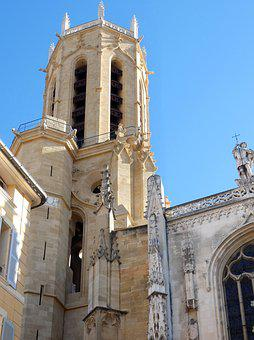 Aix-en-provence, Cathedral, St-sauveur, Bell Tower