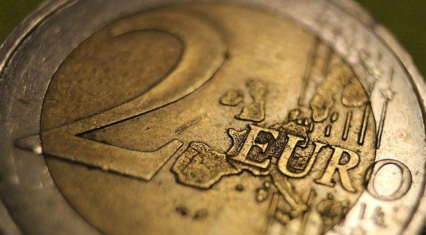 Coin, Chocolate, Euro, European, Tax, Money, White