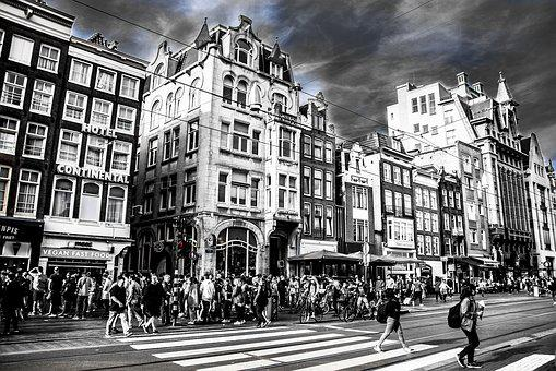 City, Amsterdam, Netherlands, Architecture, Urban