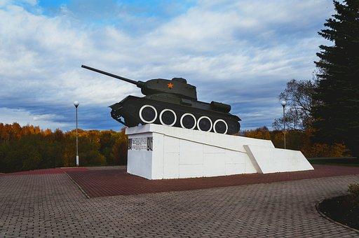 Tank, Monument, Velikie Luki, The City, City, Weaponry