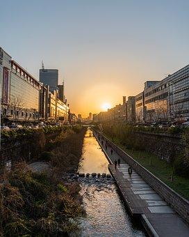 Seoul, Korea, South Korea, Cityscape, Sunset, Dusk