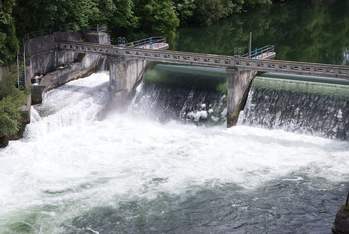 Water, Power Station, Waterfall, Dam, Wall, Waves