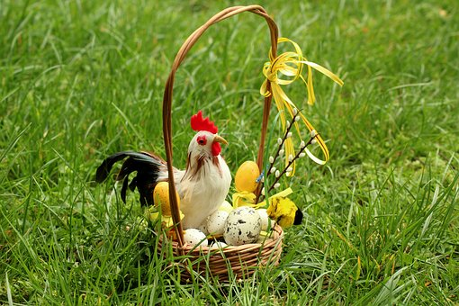 Easter, Shopping Cart, Decoration, Spring, Eggs