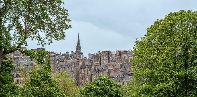 Edinburgh, Old Town, Travel, Facades, Houses