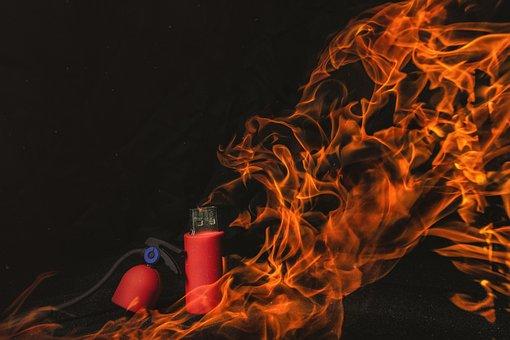 Usb, Flash-drive, Technology, Fire Extinguisher, Fire