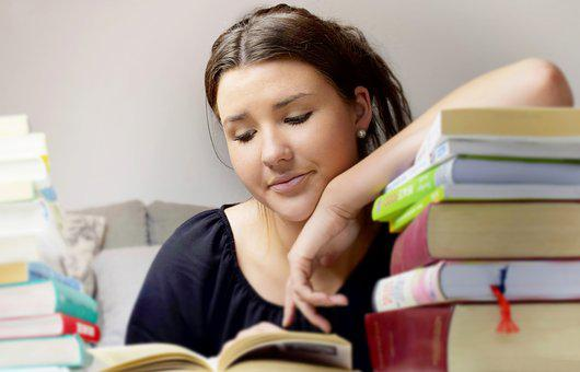 Girl, Woman, Young, Learn, Read, Books, Concentration