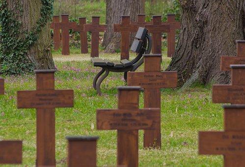 Cemetery, Honorary Cemetery, World War, Crosses, Bank