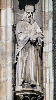 Gothic, Statue, Cathedral, Milan, Italy, Sculpture