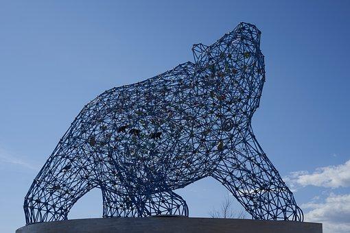 Bear, Sculpture, Kelowna, British Columbia, Statue, Sky