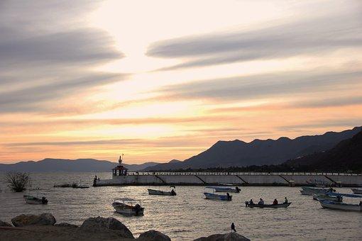 Chapala, Paradise, Landscape, Mexico, Lake, Boat