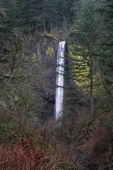 Waterfall, Oregon, Nature, Landscape, Scenic, Outdoors