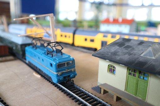 Mockup, Miniature, Train, Railway, Locomotive, Toy
