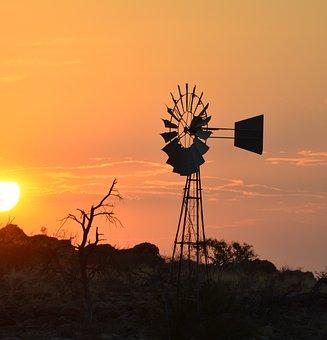 Africa, Sunset, Nature, Landscape, Sky, Silhouette