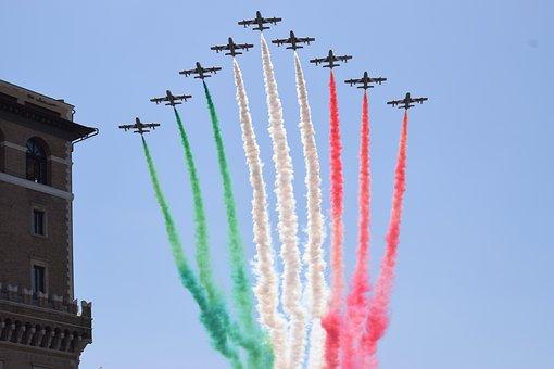 Parade, Military, Tricolor Arrows, Aircraft, Colors