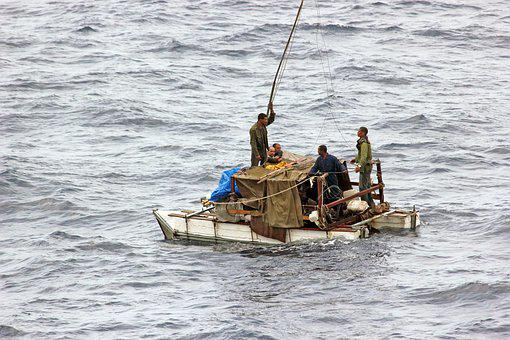 Refugees, Rescue, Cuba, Refugee, Help, Distress, Ocean
