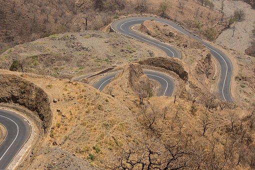 Ethiopia, Africa, Road, Curves, Highlands, Mountainous
