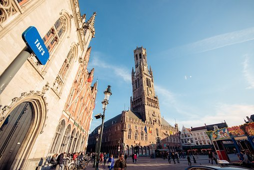 The Bell Tower, Tower, Bruges, Channel, Romantic