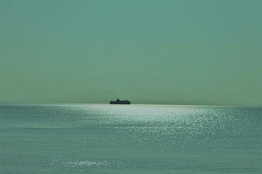 Sea, Boat, Water, Ocean, Side, Bank, Pebbles