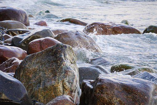 Water, Rock, Surf, Beach, Sea, Nature, Stones