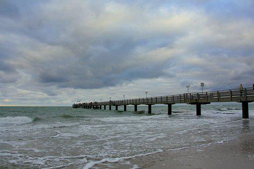 Sea, Forward, Weather, Cloud, Wave, Rain, Web, Jetty