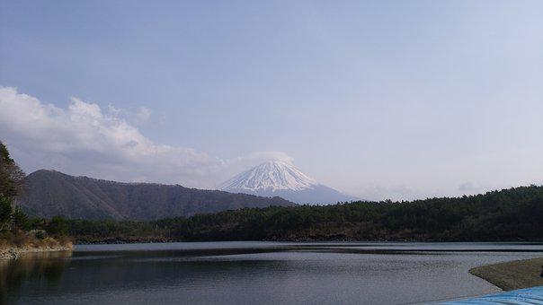 Mt Fuji, West Lake, Mount Fuji And Lake