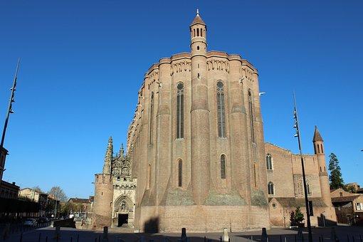 Albi, Cathedral, St, Cécile, France, Tourism, Catholic