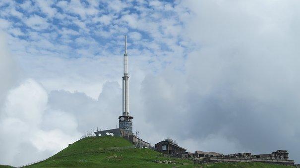 Auvergne, France, Antenna, Fog, Puy-de-dome