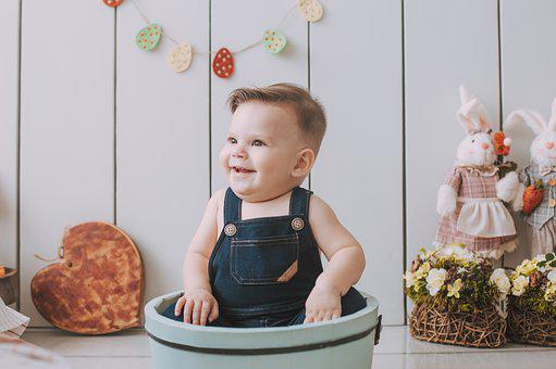 Easter, Child, Baby, Spring, Children, Decoration