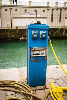 Gear, Blue, Face, Machine, Water, Electricity, Robot