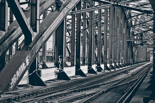 Bridge, Gleise, Railway, Traffic, Architecture, Train
