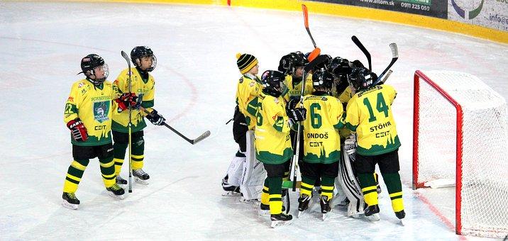 Hockey, Children, Pupils, Victory, Celebration, Team
