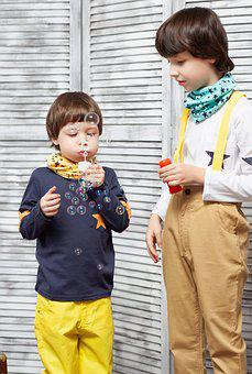 Kids, Soap Bubbles, Brothers, Toys, Baby, Childhood