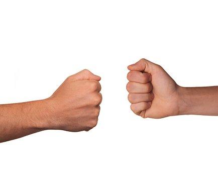 Fight, Rock, Paper, Scissor, Confrontation, Disagree