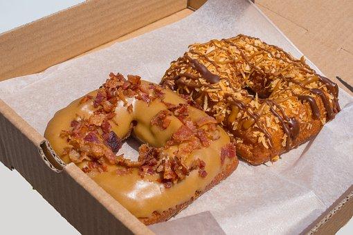Donuts, Fried, Bacon, Maple, Caramel, Samoa, Coconut