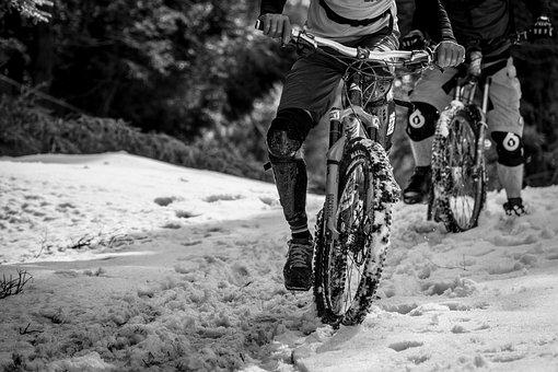 Mtb, Bike, Cycling, Sport, Extreme, Enduro, Snow