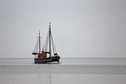 Boat, Sailing Boat, Wooden Boat, Water, Sea, Marines