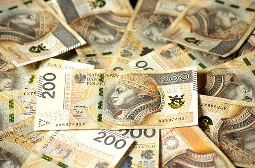 Euro Banknotes, The Currency In Poland, Finance, Money