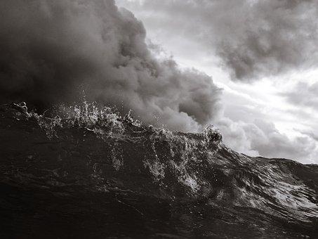 Wave, Surf, Shorebreak, Beach, Ocean, Sea, Nature