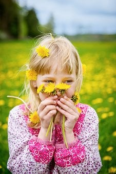 Children, Girl, Flowers, Portrait, Childhood, Outdoor