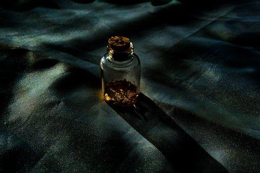 Starry Night, Bottle, Gold, Decoration, Style