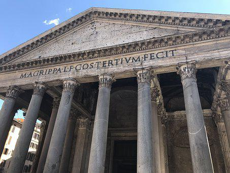 Rome, Pantheon, Architecture, Italy, Building, Tourism