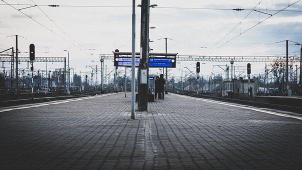 Train, Station, Road, Railway, Bridge, Travel, Industry
