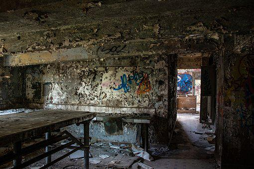 Abandoned, Urbex, Old, Dirty, Dusty, Graffiti