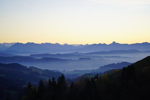 Lüderenalp, Mountains, View, Panorama, Distant View