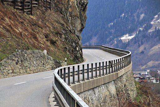 The Alps, Bend, Rocks, Steep, Travel, View, Peak