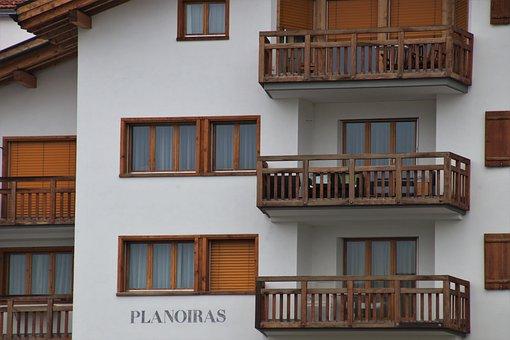 Guest, Balcony, Hotel, Wooden, Facade, Façades